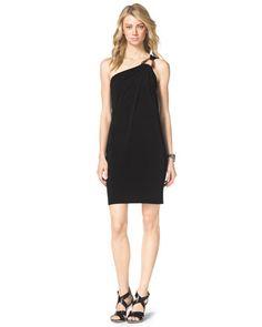 MICHAEL Michael Kors  One-Shoulder Jersey Dress.