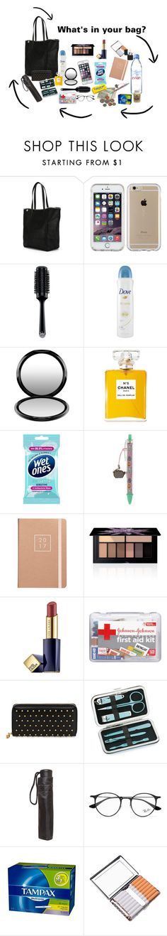 """""""whats in your bag"""" by pam-doel on Polyvore featuring STELLA McCARTNEY, Speck, GHD, Dove, MAC Cosmetics, Chanel, Pusheen, Smashbox, Estée Lauder and Evian"""