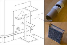 Dave & Alison's DIY Cat Tower for around $40 - I think a kitten comes with the plans ;)
