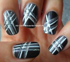 Ash-Lilly's Lacquer Lust: Plaid and boring nail art