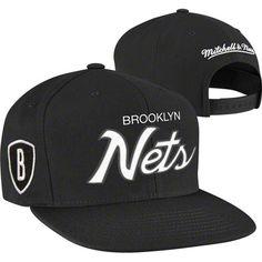 32cb5e6f3ad Brooklyn Nets Mitchell   Ness Script Snapback Hat - Black Nfl Jerseys