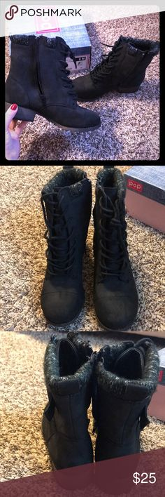 Black boots! Super cute! Never been worn! I'm open to offers :) POP Shoes Ankle Boots & Booties