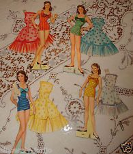 """Lennon Sisters Paper Dolls-Cut and Played With..ORIGINAL VINTAGE 1950's """"as is"""""""