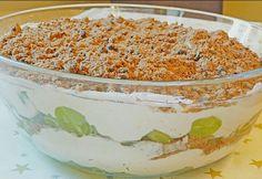 Zutaten 1 kg Weintrauben, kernlose 250 g Quark 250 g Mascarpone 250 g Schlagsahne 2 Pck. Kekse (American Cookies) 1 Pck. Vanillinzucker 100 g Zucker  Zubereitung  Die Sahne steif schlagen, aus Quark, Mascarpone und Zucker eine Creme zubereiten und mit der Schlagsahne verrühren. Die American Cookies zerbröseln.   In eine große Schüssel die Hälfte der Weintrauben geben, darüber die Hälfte der Creme verteilen, darauf die Hälfte der zerbröselten Cookies, danach wird alles nochmal in…