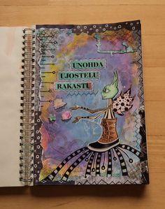"""Art Journal by *Silkku* """"Forget shyness, fall in love"""" silkkus.blogspot.fi"""