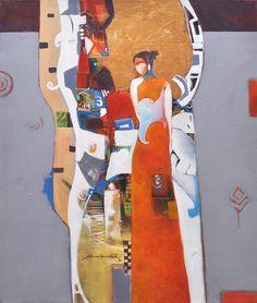 Artist: Shan Amrohvi Artwork Code: AC-EX1-019 Medium: Acrylics on Canvas Size: 30 x 36 inch