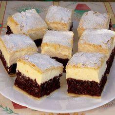A világ legfinomabb túrós sütije, mire megiszod a kávéd, meg is sül! Hungarian Desserts, Hungarian Recipes, Baking Recipes, Cake Recipes, Dessert Recipes, Sweet Desserts, Healthy Desserts, Cheesecake Pops, Pan Integral