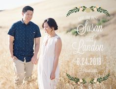 Laurel Crown Save-the-Date Cards