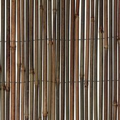 Bamboo Privacy Screen for against post rail fence for privacy with tomato green metal tie to... along fence line!