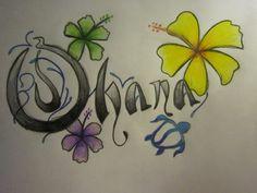 ohana tattoo by naboobabe.deviantart.com on @deviantART it's so beautiful. I want this! :)