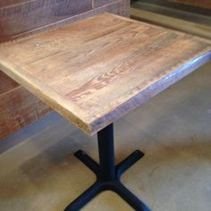 "Reclaimed Wood Table tops Restaurant TABLE TOPS Custom Made 24"" x 24"" white wash finish  shows off the grain detail of these reclaimed pine wood plank table tops."