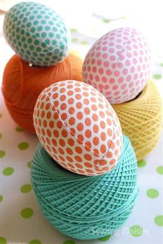 Easter Eggs: How Do You Make Yours? Fabric Tastic by Sewing Daisies, via Flickr #eastereggs #easter