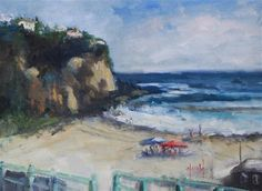 "Daily Paintworks - ""Emerald Bay"" - Original Fine Art for Sale - © Deborah Harold"