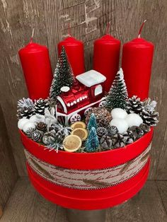 Christmas Advent Wreath, How To Make Christmas Tree, Holiday Crafts For Kids, Handmade Christmas Decorations, Diy Christmas Gifts, Xmas Decorations, Christmas Candle Holders, Christmas Candles, Classy Christmas