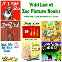 List of Zoo Picture Books to read with kids!