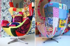 Patchwork chair.