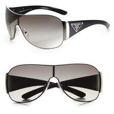 b6257005111 Prada Shield Sunglasses ( 290) ❤ liked on Polyvore Luxury Sunglasses