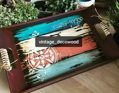 Paisley Art, Painted Trays, Wood Tray, Tray Decor, Painting On Wood, Home Projects, Stencils, Dremel, Fun