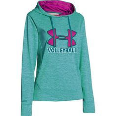 NEW at All Volleyball! Under Armour Womens Big Logo Twist Hoodie - Teal $59.99