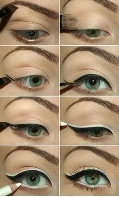 I'll have to try this sometime. Really makes the eye pop! #makeup