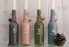 Лучшие дизайнерские находки - Стильные подсвечники из стеклянных бутылок