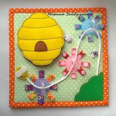 Ярмарка РАЗВИВАШЕК. Развивающие книги В НАЛИЧИИ Felt Crafts, Diy And Crafts, Crafts For Kids, Montessori Activities, Book Activities, Felt Templates, Busy Book, Felt Fabric, Handmade Baby