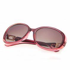 Polarized Oval Fashion Sunglasses Womens Burgundy Frame
