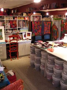 Elizabeth Armstrong's felting studio - another angle