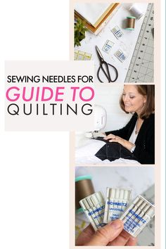 How to choose the right sewing needle for quilting! What's the deal with sewing machine needles for quilting? Universal Needles, Quilting Needles, Microtex Sharp Needles, Topstitching Needles.... there so many different types. How do you know which one the right type for your quilting project? Find out which one you need. Beginner Quilting, Quilting For Beginners, Quilting Tips, Machine Quilting, Quilting Projects, Quilt Tutorials, Sewing Tutorials, Sewing Tips, Sewing Hacks