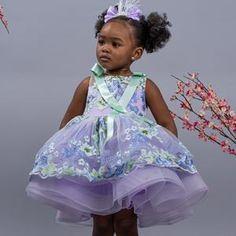 ARABELLA Pretty Little Dress, Little Dresses, Nice Dresses, Flower Girl Dresses, Gold Dress, Purple Dress, Baby First Birthday Dress, Cherry Blossom Dress, Tiffany Dresses