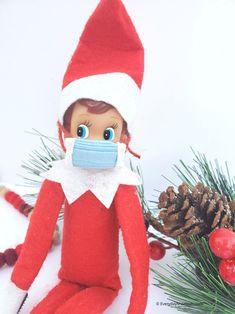 DIY Elf on the Shelf Face Mask Christmas Elf, Christmas Crafts, Christmas Letters, Awesome Elf On The Shelf Ideas, Elf Face, Elf On The Self, Elf Clothes, Buddy The Elf, Christmas Sewing