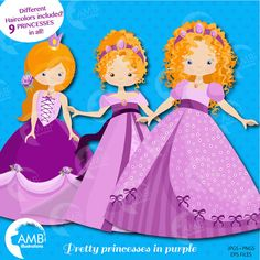 80%OFF Princess clipart Princess clipart by AMBillustrations