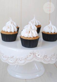 Cupcakes de café y leche merengada
