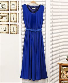 Love the color of this Chiffon Dress