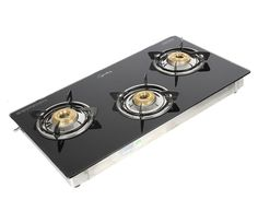 Pigeon 3 Burner Glass top Gas Burner At Rs. 2,999
