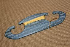 "Tablet weaving shuttle. Card weaving shuttle. Blue oak ""Sledge"". Ancient medieval viking art inkle loom weaving loom craft work SCA"
