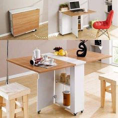 Top 16 Most Practical Space Saving Furniture Designs For Small Kitchen - Furniture - Tiny House Furniture, Smart Furniture, Space Saving Furniture, Furniture Design, Furniture Ideas, Office Furniture, Office Desk, Furniture Stores, Simple Furniture