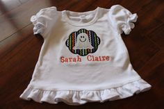 Girl's Ruffle Shirt With Ghost Applique by SwankyStitchesbyR, $20.00