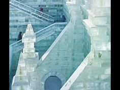 This is an ice museum in China that is opened seasonally, then closed until the next season. Public Visitations to it are $50...and probably very well worth the experience.