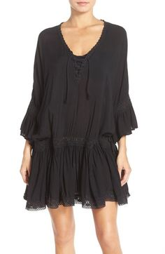 Surf Gypsy Crochet Trim Cover-Up Dress available at #Nordstrom