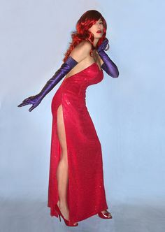 Sexy Jessica Rabbit Costume Gown by SavillaCreations on Etsy