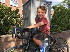 Little un trying bikes out for size