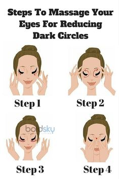 Steps To Massage Your Eyes For Reducing Dark Circles Skin Care Dark Circles Treatment, Reduce Dark Circles, Dark Circles Under Eyes, Yoga Facial, Face Yoga, Facial Massage, Beauty Care, Beauty Skin, Health And Beauty
