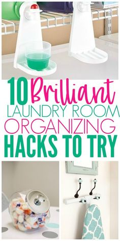Organize your laundry room with these laundry room organization hacks and tips. There are so many ways to have a clean and organized laundry room. Implement these ways to organize a laundry room in your own laundry room,. Basement Laundry, Laundry Room Organization, Laundry Room Design, Laundry Sorter, Organized Laundry Rooms, Laundry Detergent Storage, Laundry Room Remodel, Laundry Drying, Small Laundry Rooms