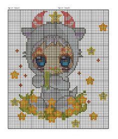 Children's Zodiac Capricorn Cross Stitch Pattern 3/3