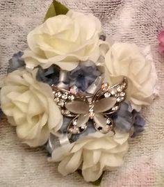 Silk flower wrist corsage country enchantment creations silk flower wrist corsage by countryenchantment on etsy mightylinksfo