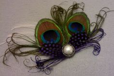 Boutonniere Feather boutonniere peacock wedding by msformaldehyde, $15.00