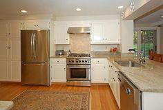 Granite - simple, Traditional, Raised Panel, L-Shaped, Undermount