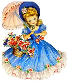 My mother has the entire collection of these Hallmark cards, they were made in I loved to look at them when I was little. Art Vintage, Vintage Girls, Vintage Paper, Vintage Children, Vintage Prints, Vintage Birthday Cards, Vintage Greeting Cards, Vintage Postcards, Vintage Pictures