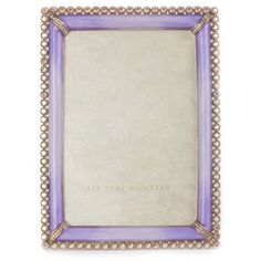 Jay Strongwater Lorraine Frame ($495) ❤ liked on Polyvore featuring home, home decor, frames, lavender, distressed frames, jay strongwater frames, distressed home decor, handmade picture frames and jay strongwater